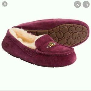 Ugg Ansley Chunky Swarovski slippers maroon USED
